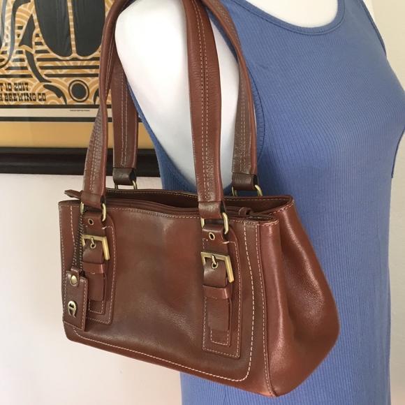 erstklassig Detaillierung zarte Farben Etienne Aigner Beautiful Leather Bag